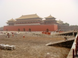 The Forbidden City. Notice the smog...