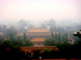 The Forbidden City from a nearby park. Again, the smog obscures the photo.